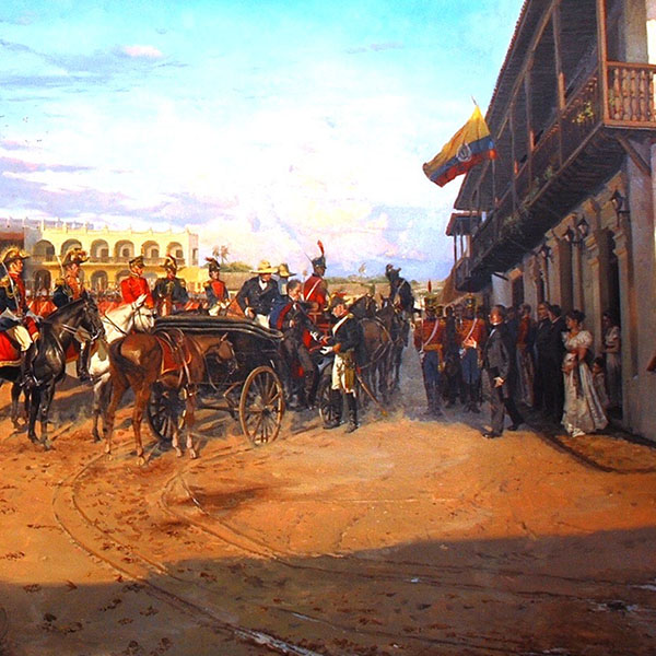 ¿Qué hizo Simón Bolívar a su paso por Barranquilla en 1830?