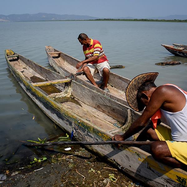 La Peña, un pueblo del Caribe colombiano que podría desaparecer por el cambio climático