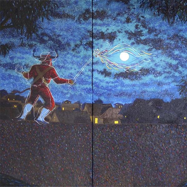 Nitho Cecilio: una danza pictórica alrededor de la luna