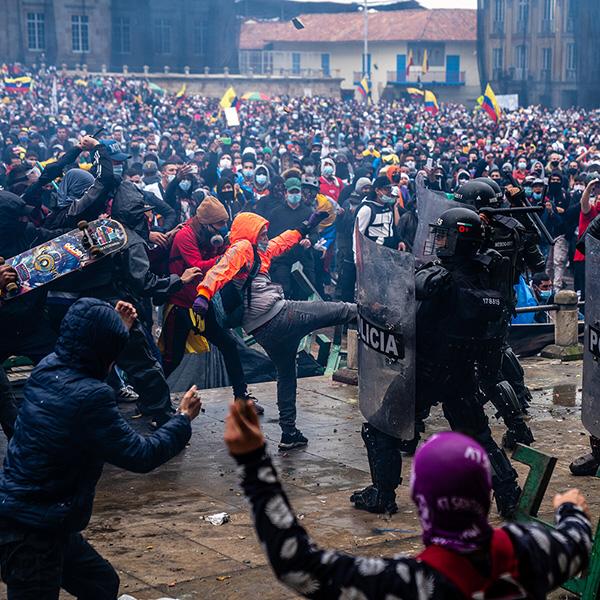 La batalla campal en Colombia